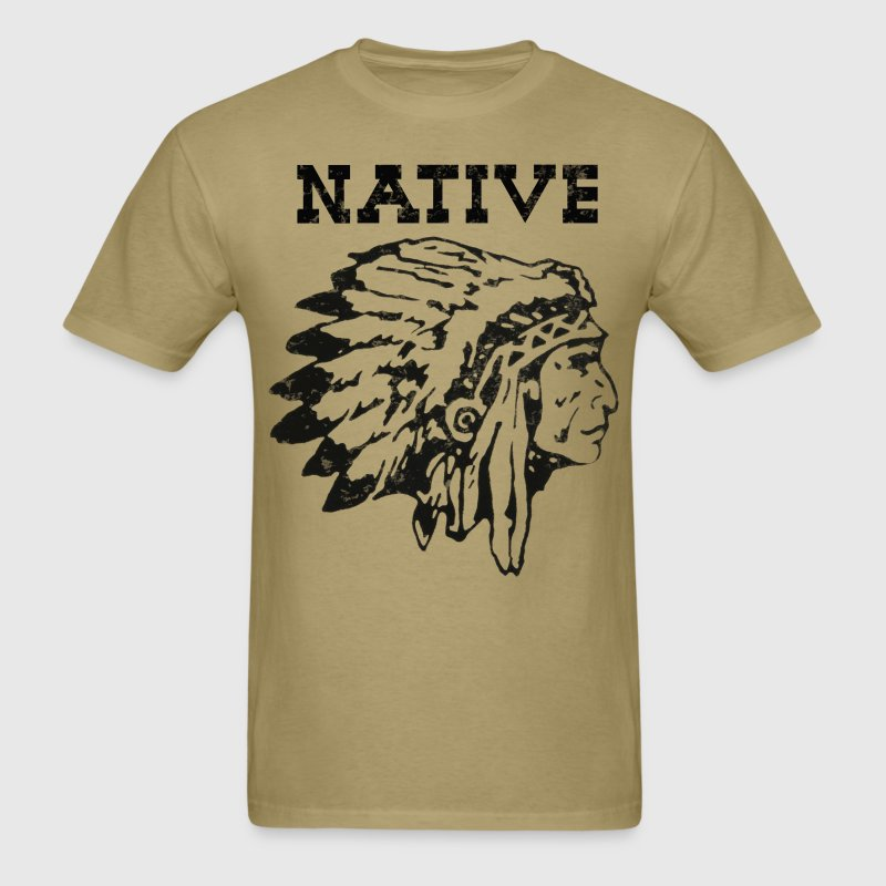 Mens Native American Indian Vintage design shirt - Men's T-Shirt