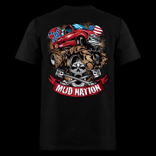 Mud Nation Mega Truck BACK - Men's T-Shirt