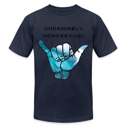 'Undeniably Homosexual' Men's American Apparel T-Shirt - Men's  Jersey T-Shirt
