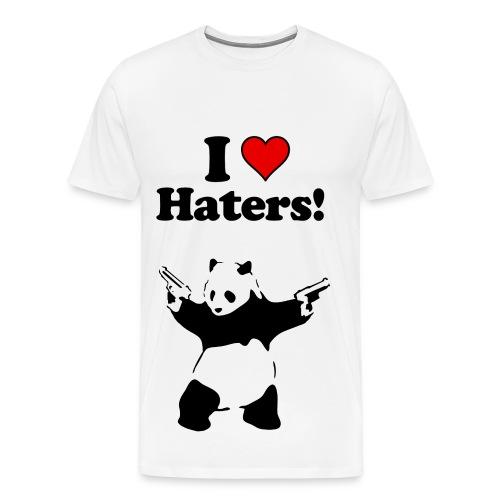 I love haters - Men's Premium T-Shirt