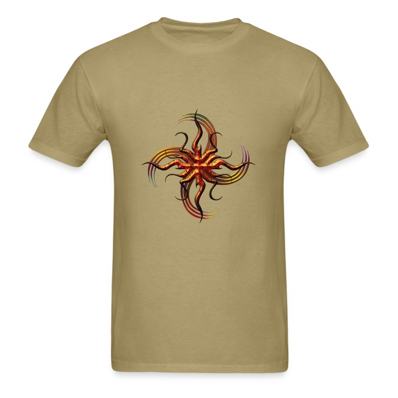 Tribal Bronze Swirl - Men's T-Shirt