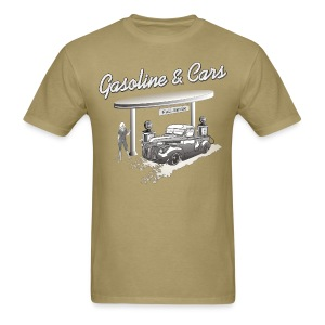 Vintage Car & Gas Station - Men's T-Shirt