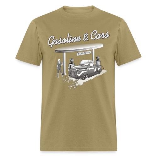 Vintage Car & Gas Station - Men's T-Shirt