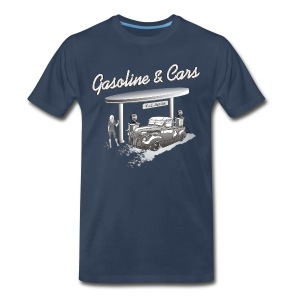 Vintage Car & Gas Station - Men's Premium T-Shirt