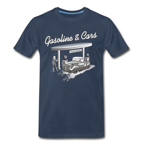 Vintage Car & Gas Station - Men's Premium T-Shirt