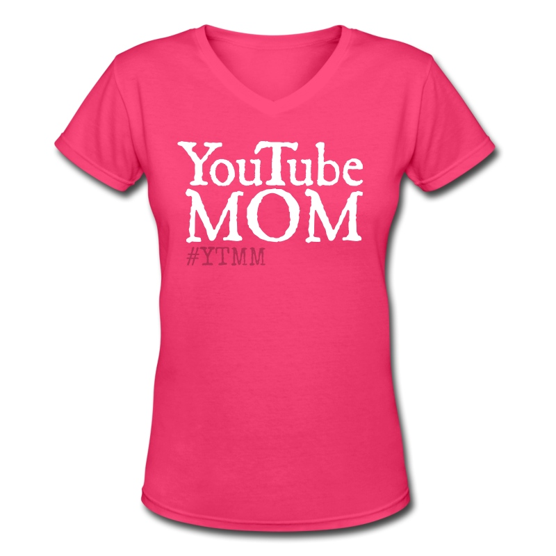 YouTube Mom Tee - Women's V-Neck T-Shirt