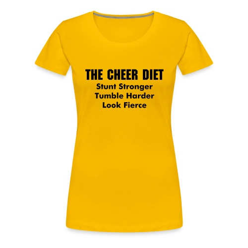 The Cheer Diet Tshirt (Free Book With Purchase) - Women's Premium T-Shirt