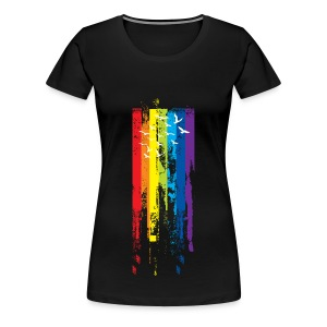 Womens Rainbow paint - Women's Premium T-Shirt