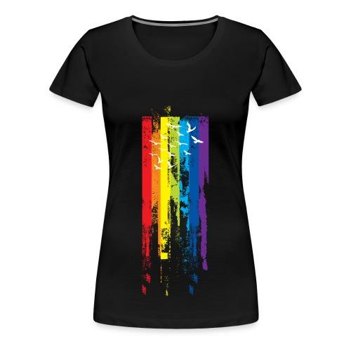 Womens Rainbow paint - Women's Premium T-Shirt