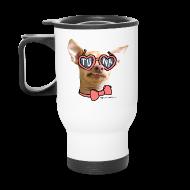 Mugs & Drinkware ~ Travel Mug ~ Tuna Heart Shades Travel Mug
