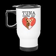 Mugs & Drinkware ~ Travel Mug ~ Tuna Melts My Heart Travel Mug
