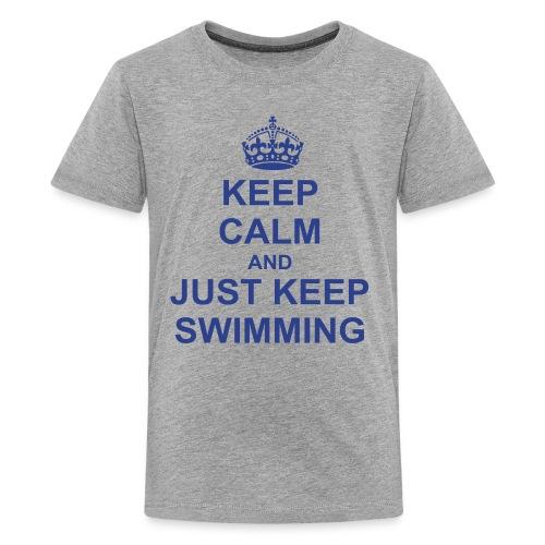 Keep Swimming SS Shirt - Kids' Premium T-Shirt
