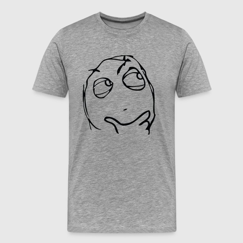 Derp thinking meme T-Shirts - Men's Premium T-Shirt