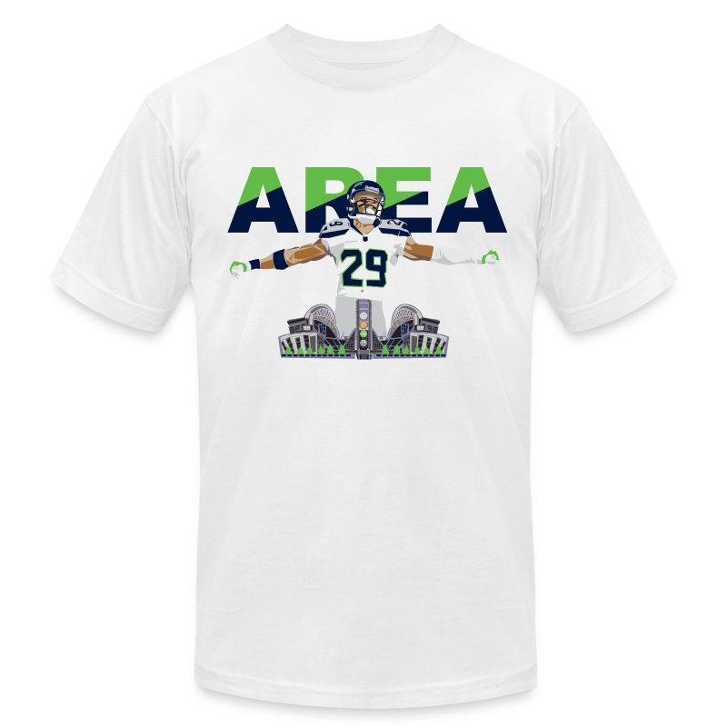 Slim Fit Area 29 Colossus (White) - Men's Fine Jersey T-Shirt