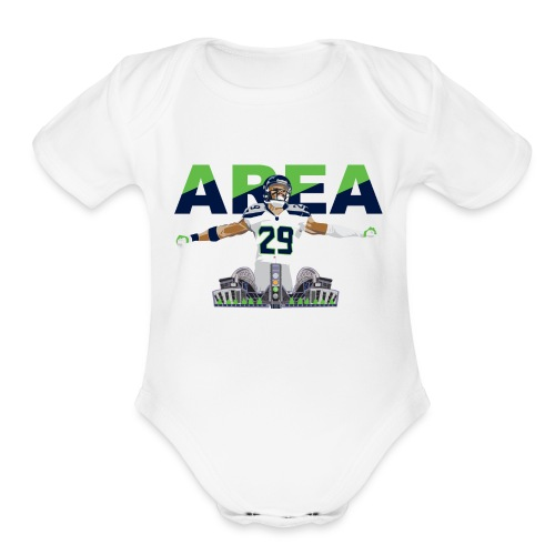 Baby Area 29 Colossus (White) - Short Sleeve Baby Bodysuit