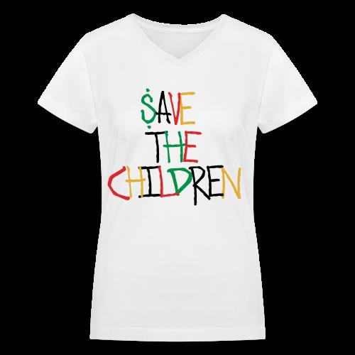 Save The Children Women's V-Neck T-Shirt - Women's V-Neck T-Shirt