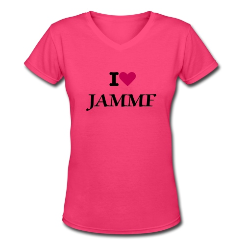 I heart JAMMF - Women's V-Neck T-Shirt