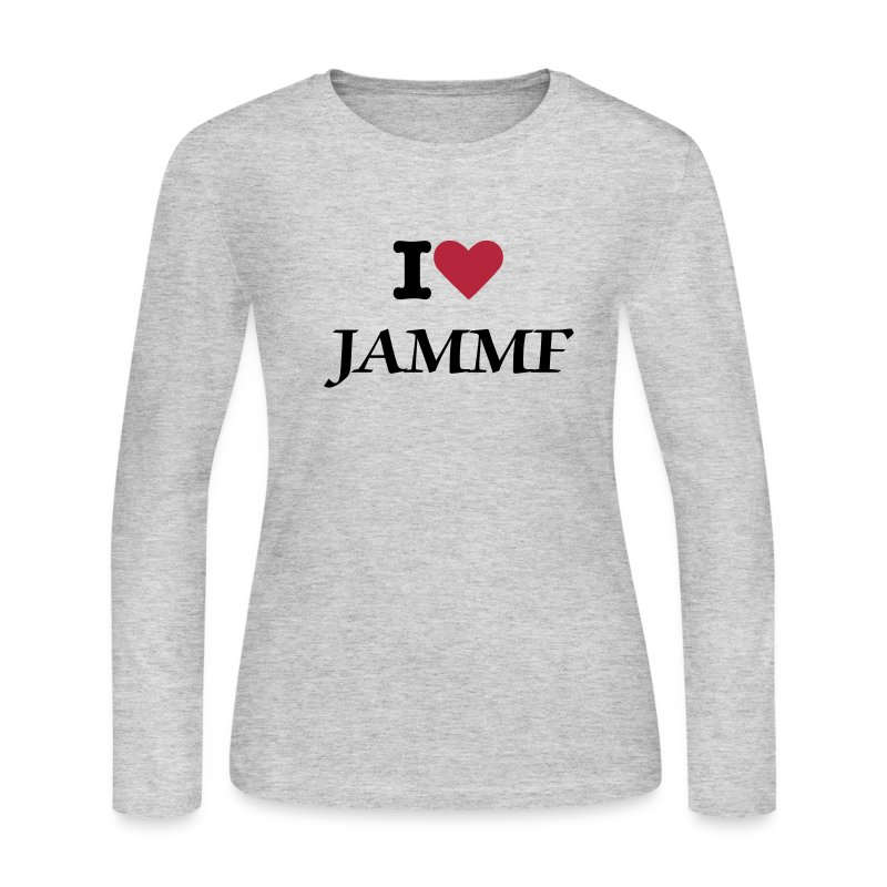 I heart JAMMF - Women's Long Sleeve Jersey T-Shirt