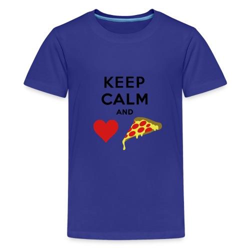 Keep Calm And Love Pizza - Kids' Premium T-Shirt