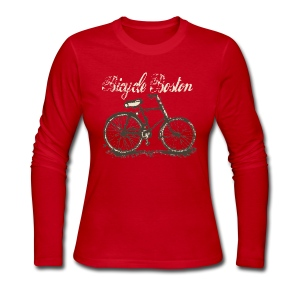 Bicycle Boston - Women's Long Sleeve Jersey T-Shirt
