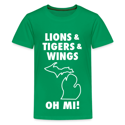 LIONS & TIGERS & WINGS, OH MI! white - Kids' Premium T-Shirt