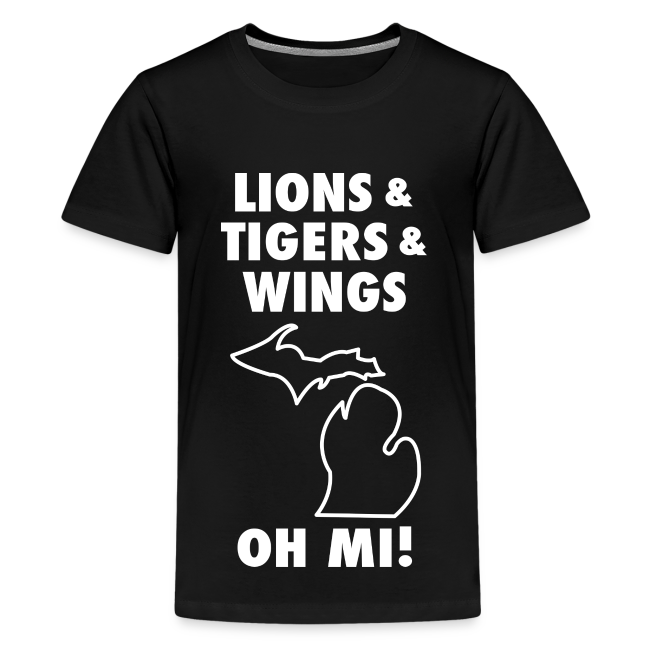 LIONS & TIGERS & WINGS, OH MI! white