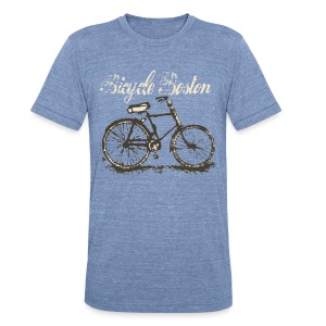 Bicycle Boston - Unisex Tri-Blend T-Shirt by American Apparel