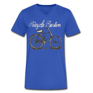 Bicycle Boston - Men's V-Neck T-Shirt by Canvas