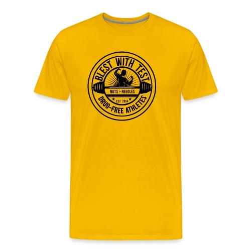 Blest With Test logo - Negative - Men's Premium T-Shirt