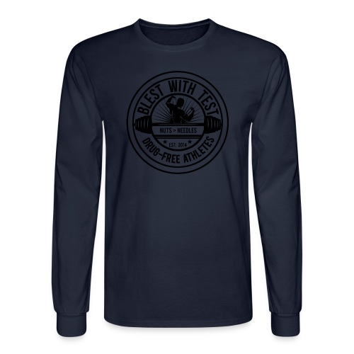 Blest With Test Logo - Negative - Men's Long Sleeve T-Shirt