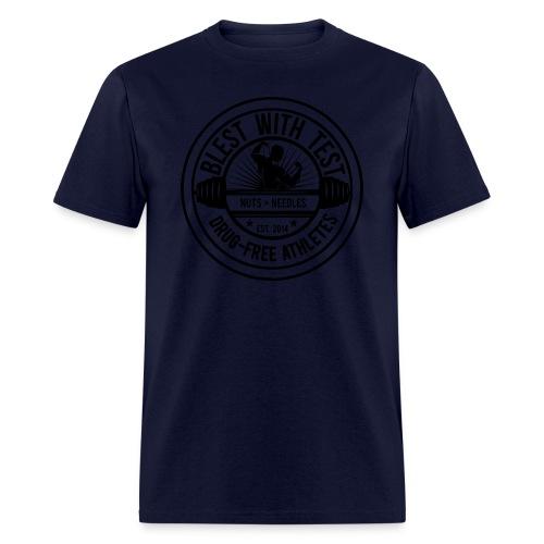 Blest With Test logo - Negative - Men's T-Shirt