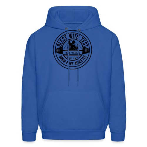 Blest With Test logo - Negative - Men's Hoodie
