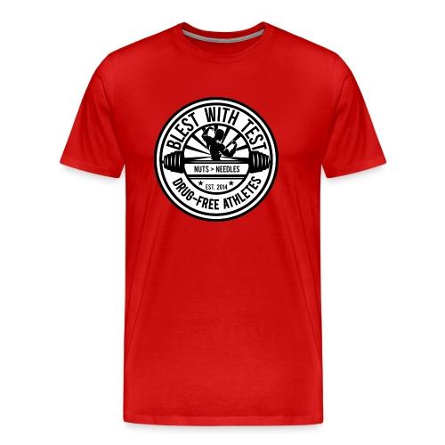 Blest With Test logo - Men's Premium T-Shirt