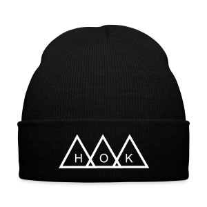 HOK Pyramid Beanie - Knit Cap with Cuff Print