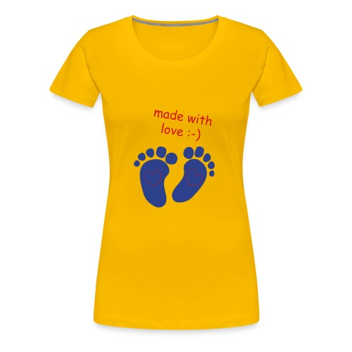 baby made with love - Women's Premium T-Shirt