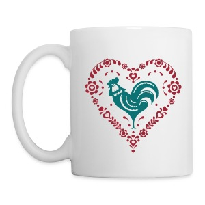 Folk Heart Rooster - Coffee/Tea Mug