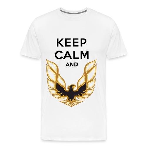 Keep Calm Trans Am  - Men's Premium T-Shirt