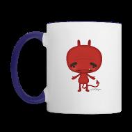 Mugs & Drinkware ~ Contrast Coffee Mug ~ Angel and Devil Mug - Both Sides