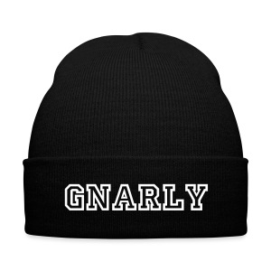 GNARLY BEANIE - Knit Cap with Cuff Print