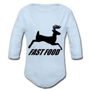 Whitetail Fast Food - Long Sleeve Baby Bodysuit