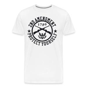 2nd Amendment Protect Yourself White T-Shirt - Men's Premium T-Shirt