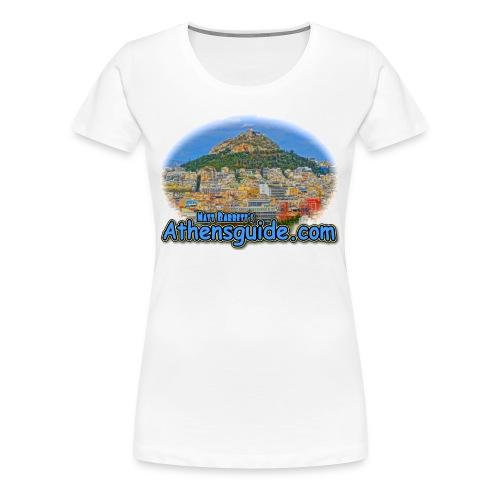 Athensguide-Lykavettos (women) - Women's Premium T-Shirt