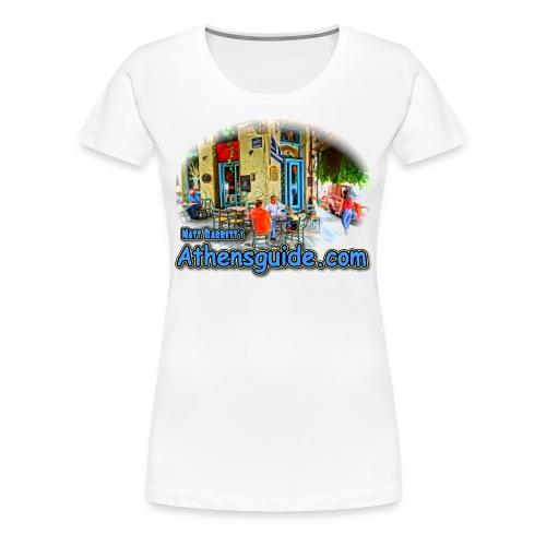 Athensguide Ouzeri (women) - Women's Premium T-Shirt