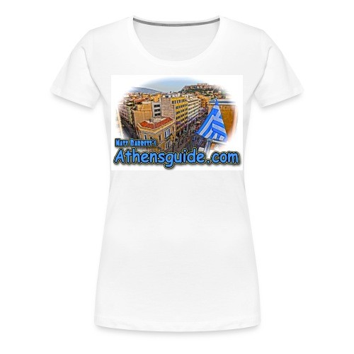 Athensguide Attalos View (women) - Women's Premium T-Shirt