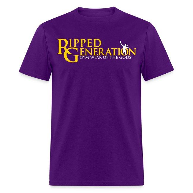 Ripped Generation Logo T-Shirt Gold