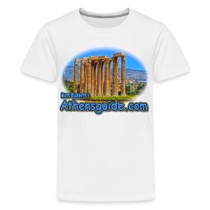 Athensguide Temple of Zeus (kids) - Kids' Premium T-Shirt