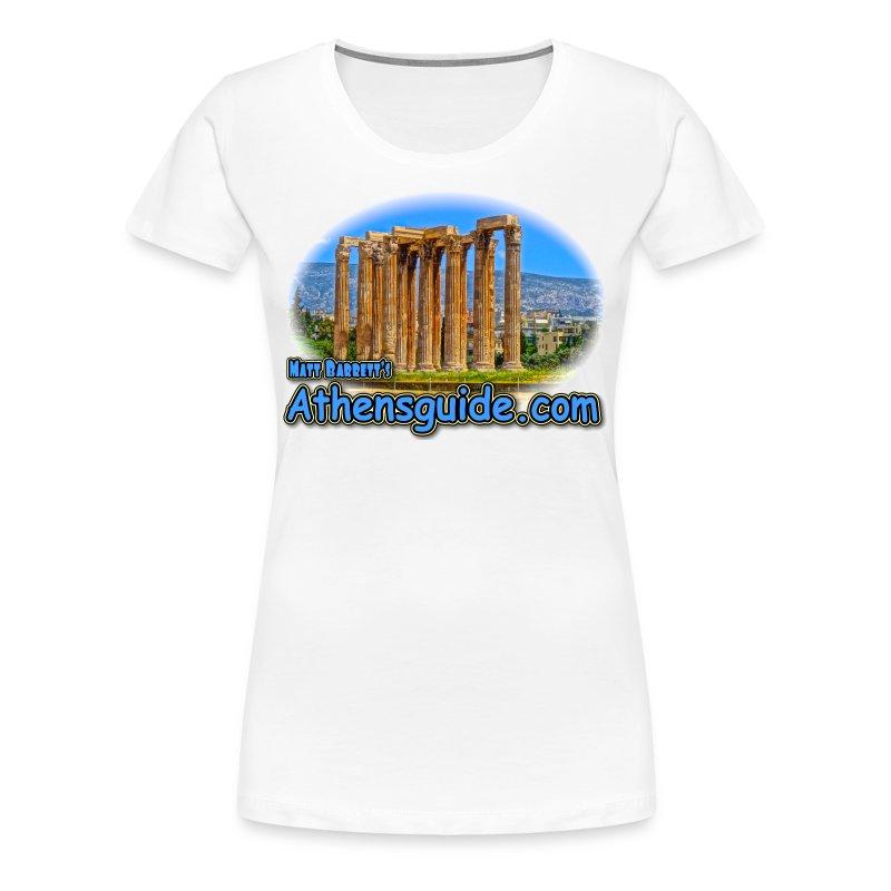 Athensguide Temple of Zeus (women) - Women's Premium T-Shirt