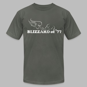 Blizzard of '77 - Men's T-Shirt by American Apparel