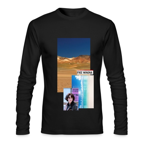 Free Winona Beach and desert Tee Black - Men's Long Sleeve T-Shirt by Next Level