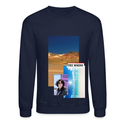 Free Winona Beach and desert Sweatshirt Navy - Crewneck Sweatshirt